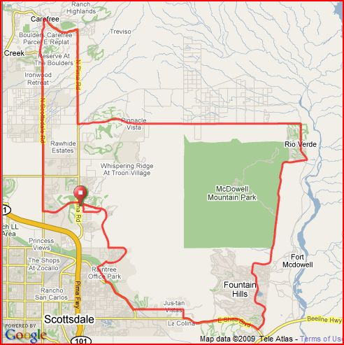 Tour de Scottsdale Map